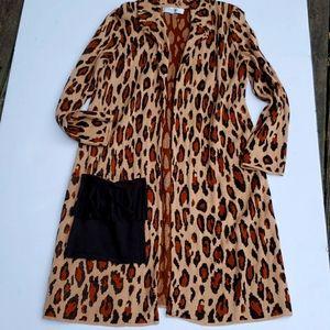 COJones Studio Seperates Leopard Duster coat soft
